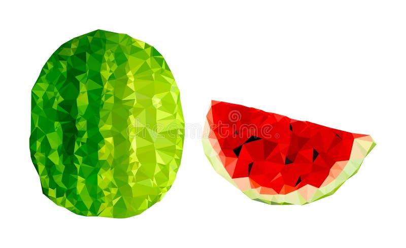 Ilustração poligonal da melancia ilustração do vetor