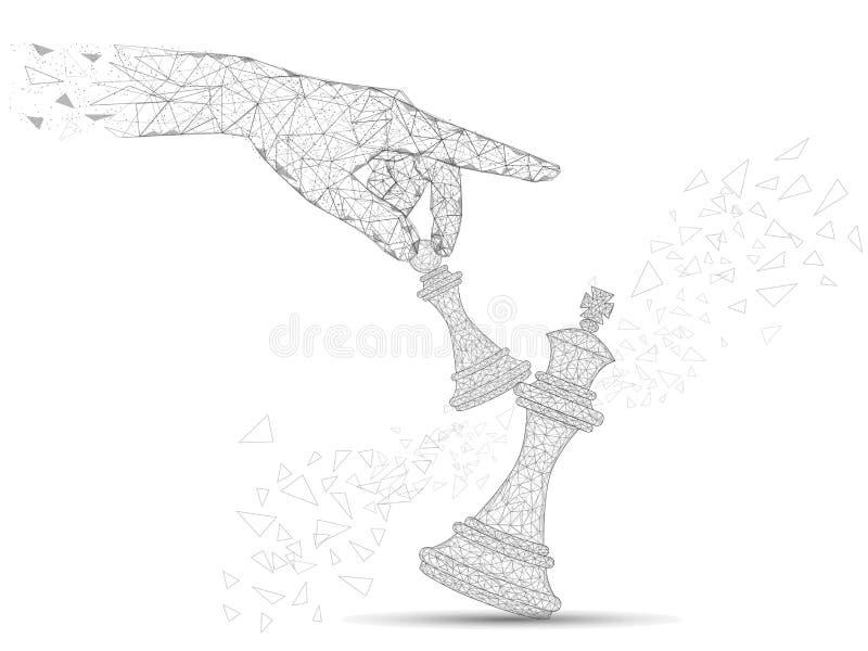 Ilustração poligonal do estilo da arte do vetor do conceito do desafio ilustração do vetor