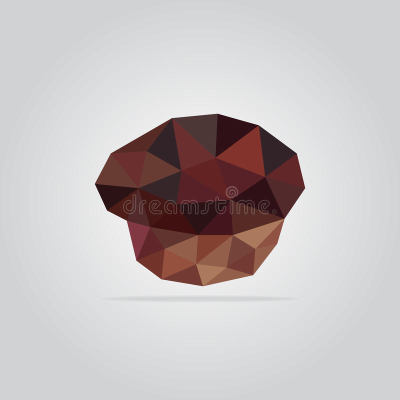 Ilustração poligonal do queque imagens de stock royalty free