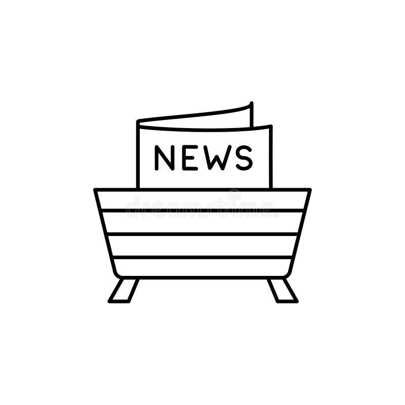 Ilustração preta & branca do vetor da cremalheira de compartimento de madeira linha ilustração do vetor
