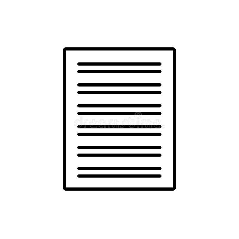 Ilustração preta & branca do vetor da folha da prática da caligrafia ilustração royalty free