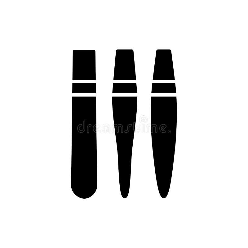 Ilustração preta & branca do vetor de suportes da ponta da caligrafia Fl ilustração stock