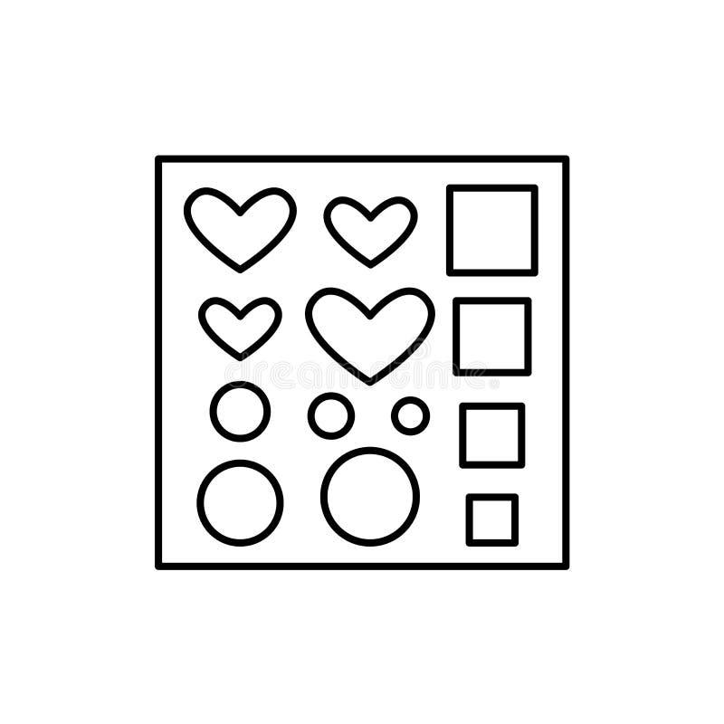 Ilustração preta & branca do vetor do estêncil do álbum de recortes com para ouvir-se ilustração stock