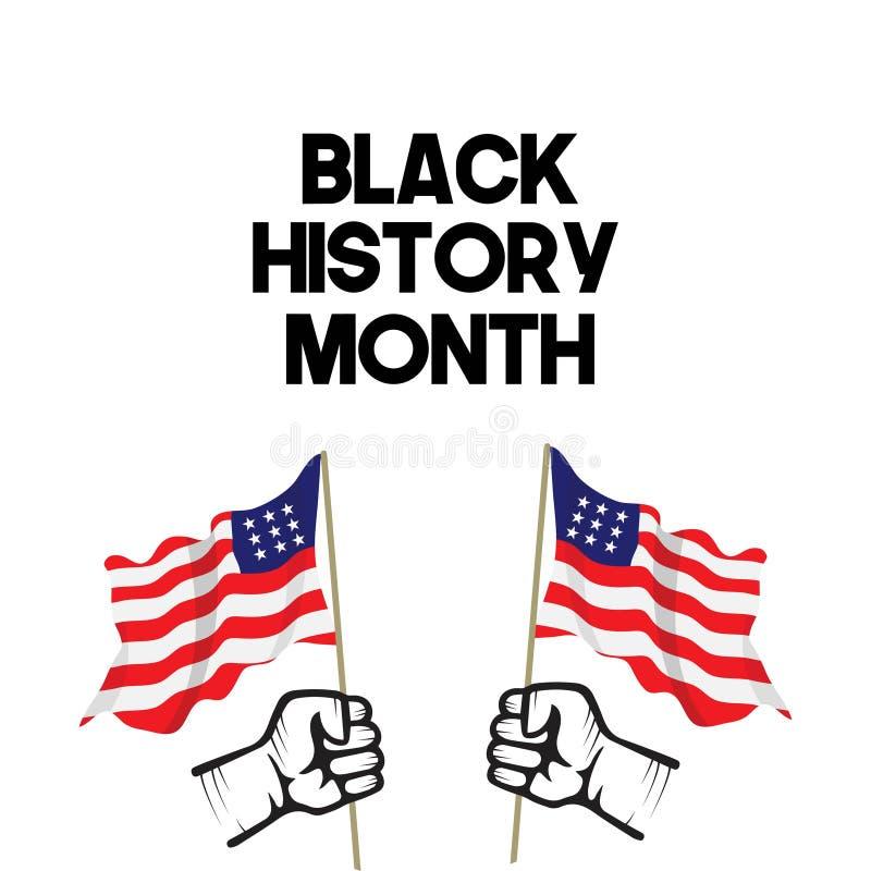 Ilustração preta do projeto do molde do vetor do mês da história ilustração royalty free