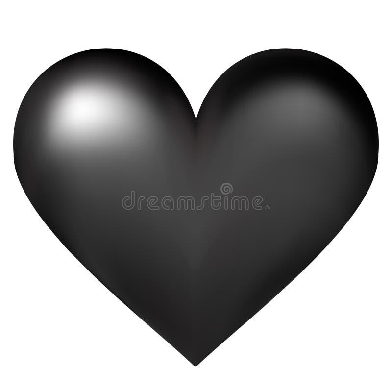 Ilustração preta do vetor do coração ilustração royalty free
