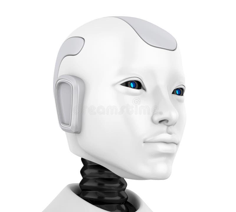 Ilustração principal da cara do robô ilustração do vetor