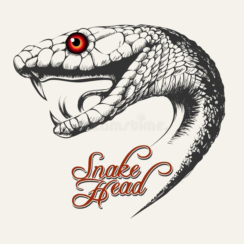 Ilustração principal da serpente ilustração stock