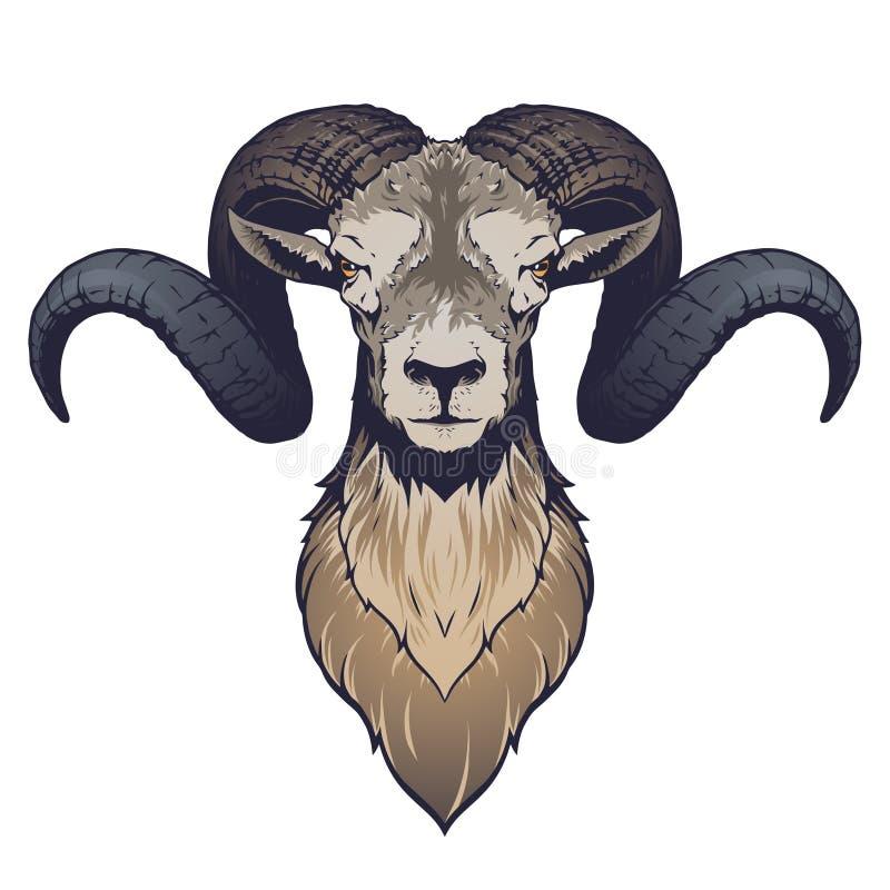 Ilustração principal do Ram ilustração do vetor
