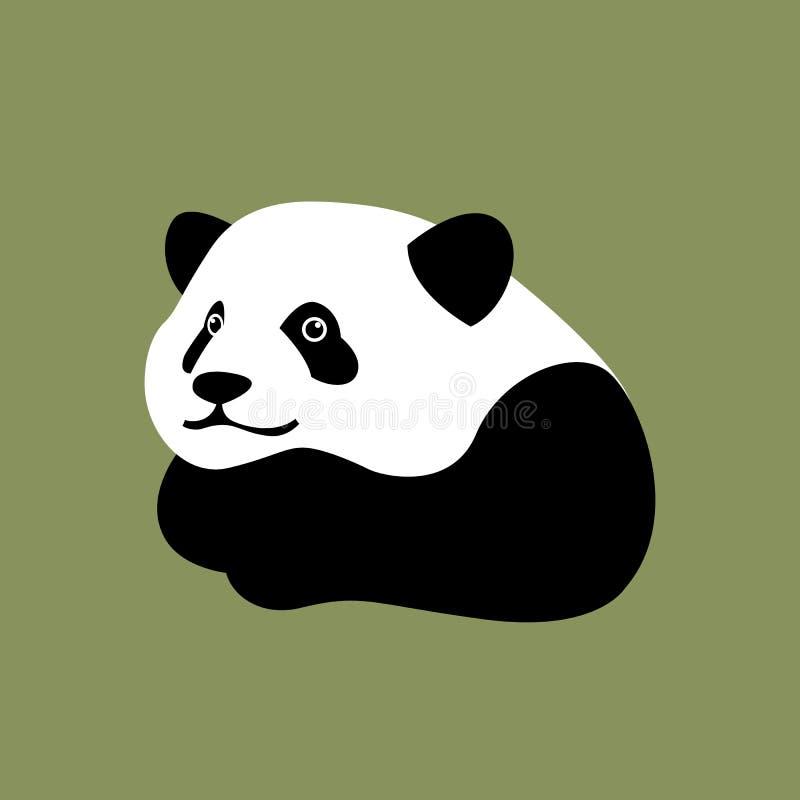 Ilustração principal do vetor da cara da panda ilustração do vetor