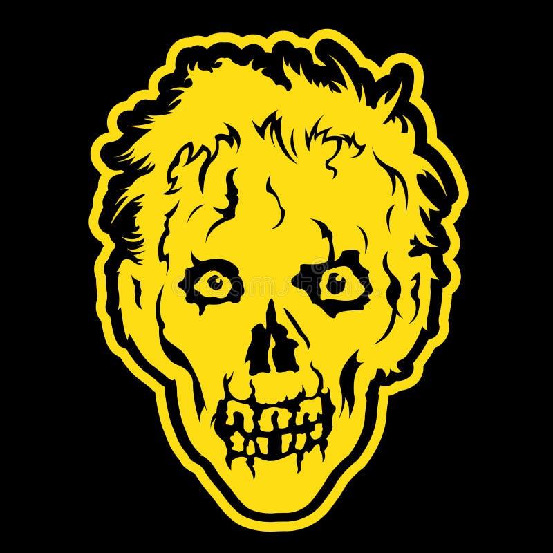 Ilustração principal do zombi ilustração stock