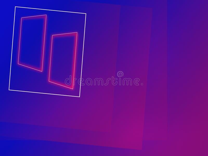 Ilustra??o que cont?m duas formas retangulares fechadas dentro de uma beira branca ilustração stock