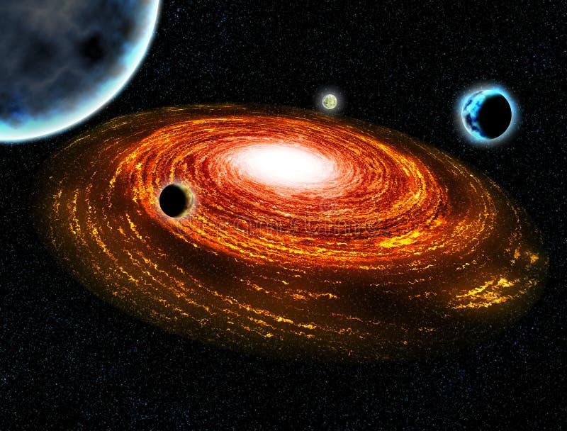 Ilustração quente do espaço do planeta da galáxia ilustração royalty free