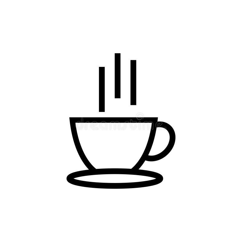 A ilustração quente do vetor do molde do projeto do ícone do café isolou-se ilustração royalty free