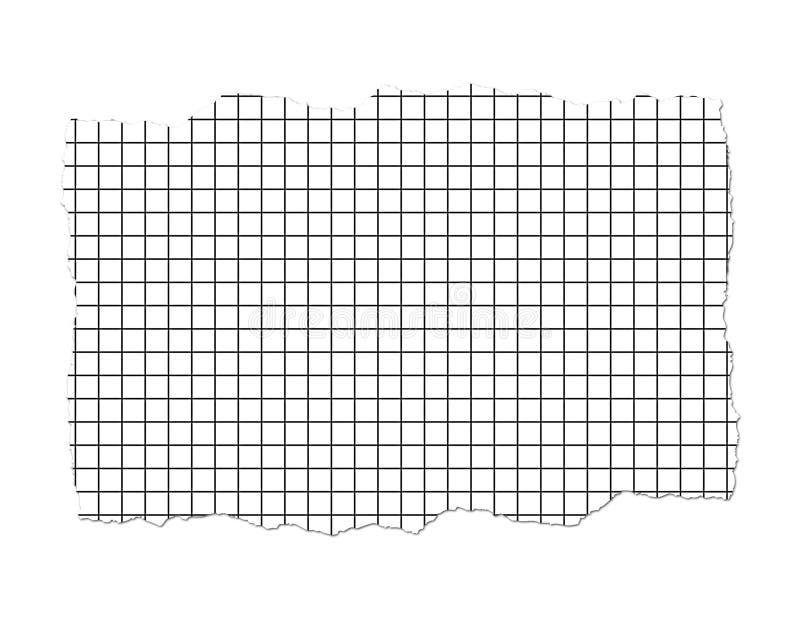 Ilustração rasgada do papel de gráfico ilustração stock