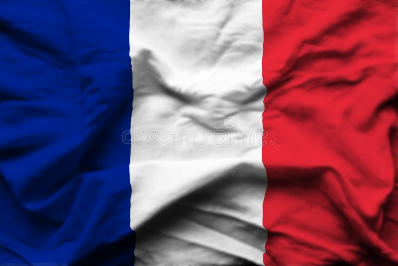 Ilustração realística da bandeira de França ilustração do vetor