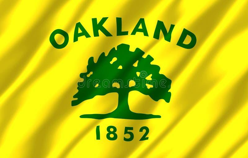 Ilustração realística da bandeira de Oakland Califórnia ilustração stock