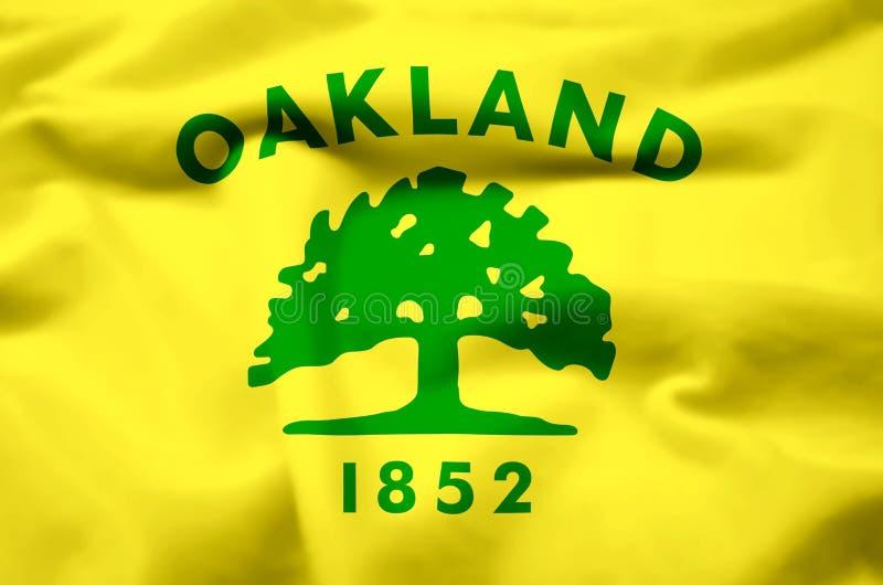 Ilustração realística da bandeira de Oakland Califórnia ilustração do vetor