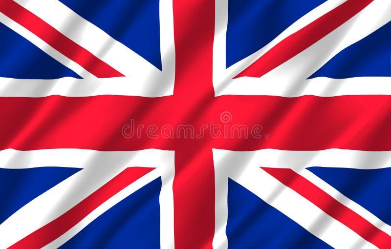 Ilustração realística da bandeira de Reino Unido ilustração stock
