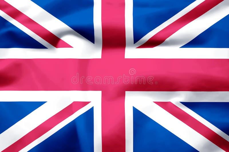 Ilustração realística da bandeira de Reino Unido ilustração royalty free