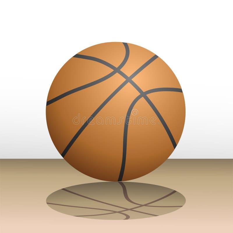 Ilustração realística da bola do basquetebol ilustração royalty free