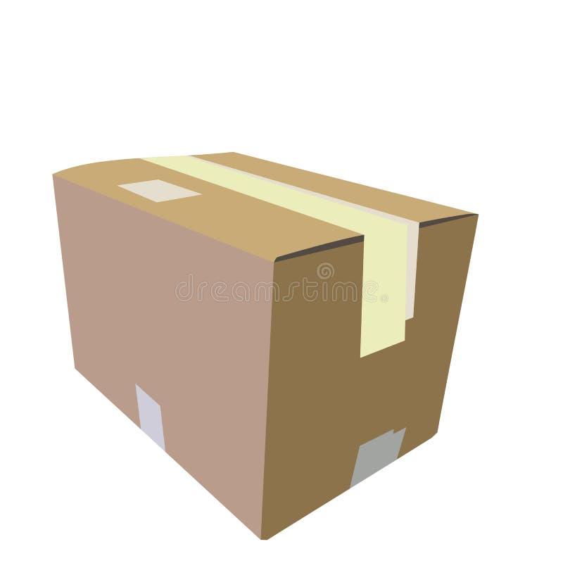 Ilustração realística da caixa ilustração stock