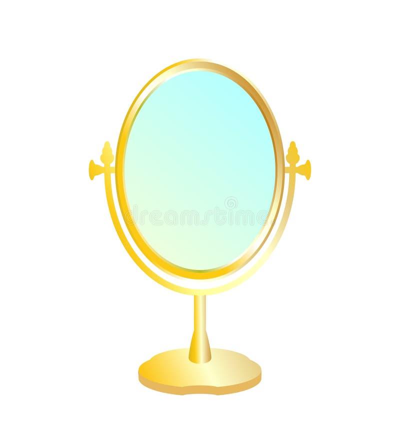 Ilustração realística do espelho do ouro ilustração do vetor