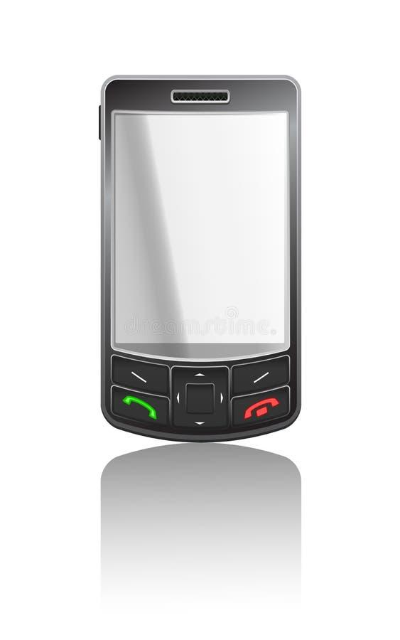 Ilustração realística do vetor de um PDA preto ilustração stock