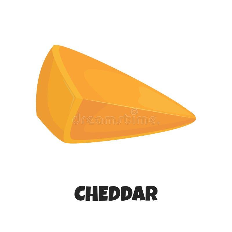 Ilustração realística do vetor do queijo cheddar ilustração royalty free