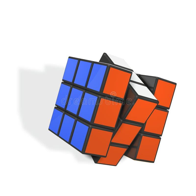 Ilustração realística editorial do vetor do cubo de Rubik s ilustração do vetor