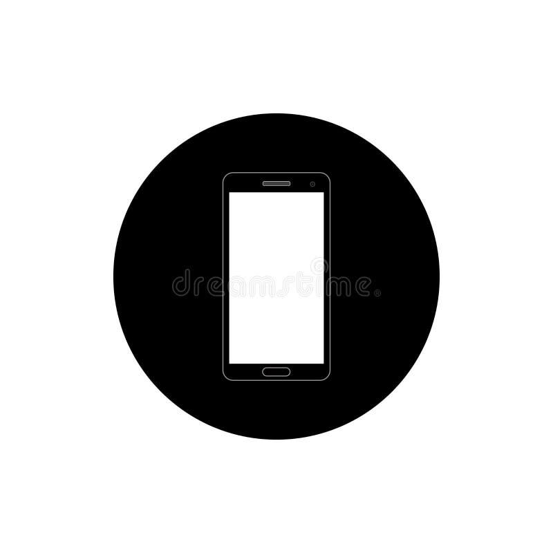 Ilustração redonda do ícone de Smartphone foto de stock