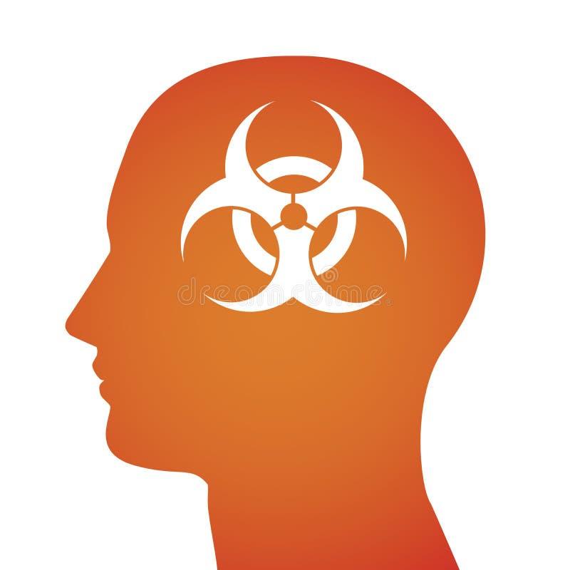 Ilustração relativa ao risco biológico ilustração stock