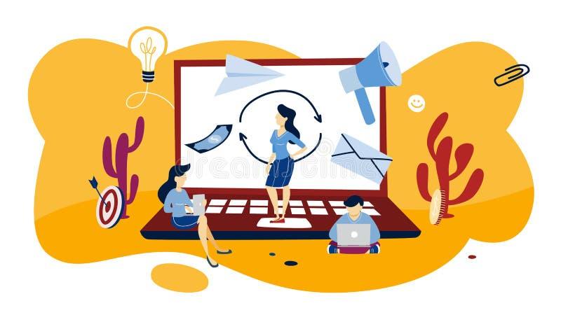 Ilustração Remarketing do conceito Estratégia empresarial ou campanha ilustração royalty free