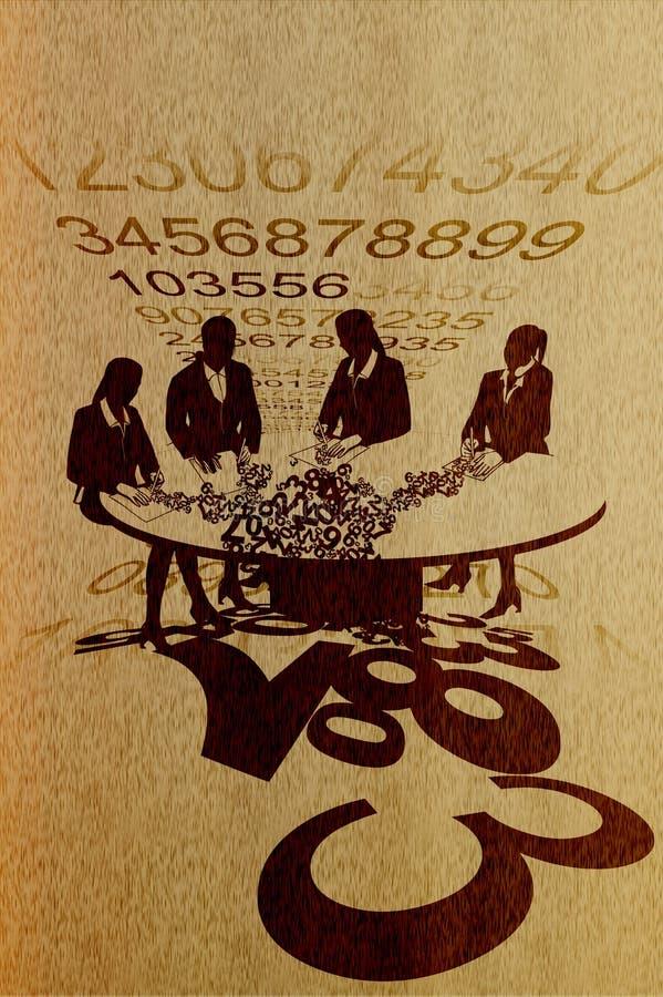 Ilustração retro abstrata do fundo do escritório ilustração do vetor