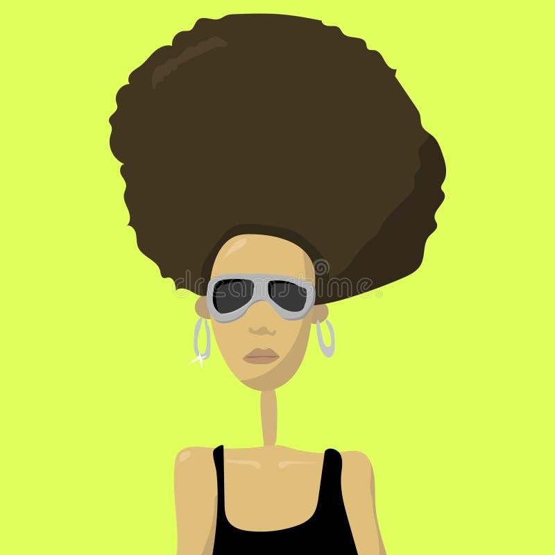Ilustração retro da mulher do pop art ilustração do vetor
