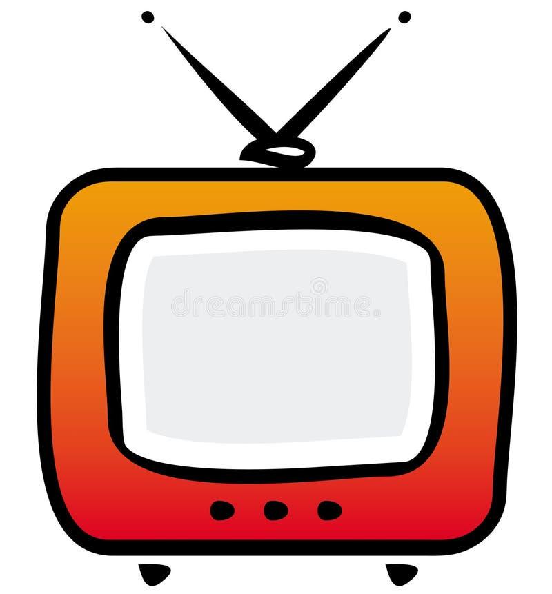 Ilustração retro do aparelho de televisão ilustração royalty free