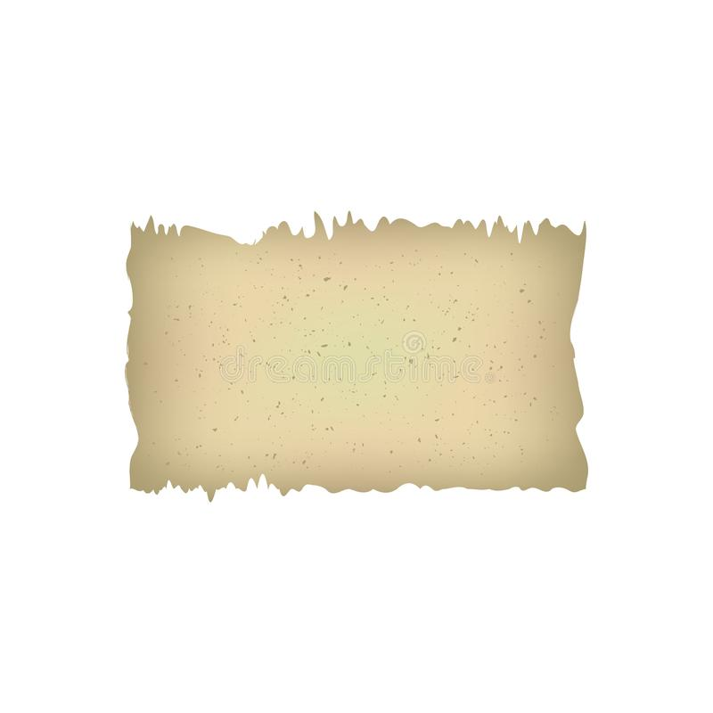 Ilustração retro do documento do papersheet da página do manuscrito antigo antigo de papel velho do papiro do vintage Fundo para  ilustração stock