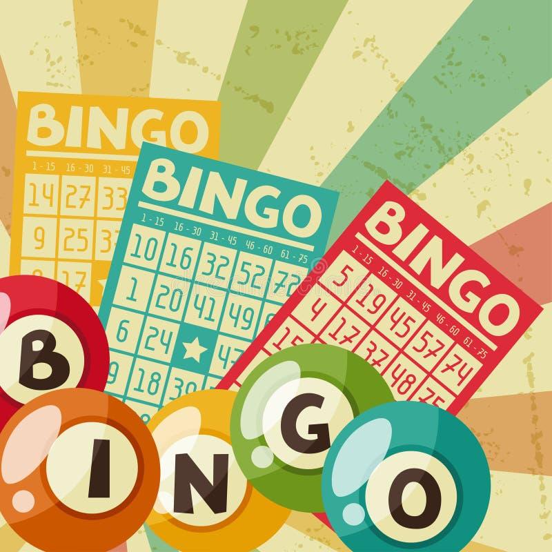 Ilustração retro do jogo do Bingo ou da loteria ilustração royalty free
