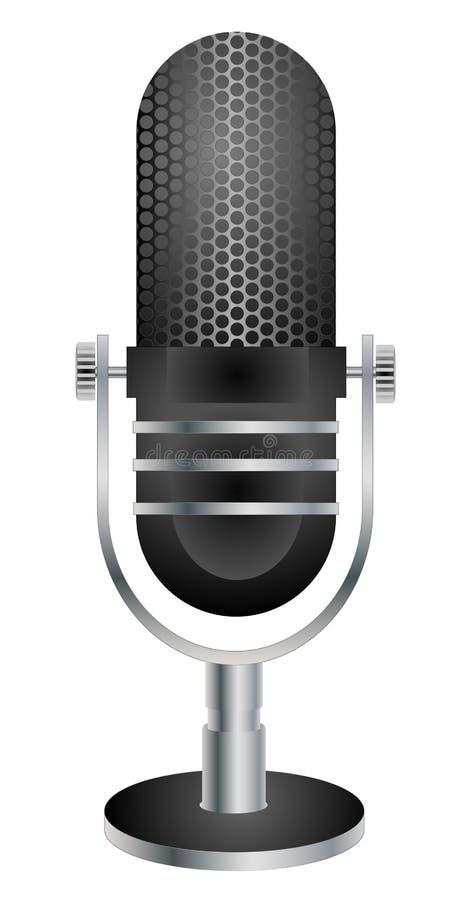 Ilustração retro do microfone ilustração do vetor