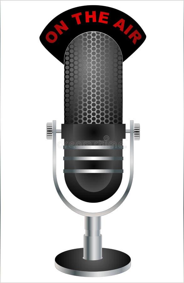 Ilustração retro do microfone ilustração royalty free