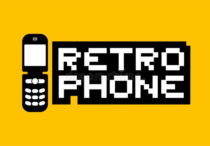 Ilustração retro do telefone ilustração stock