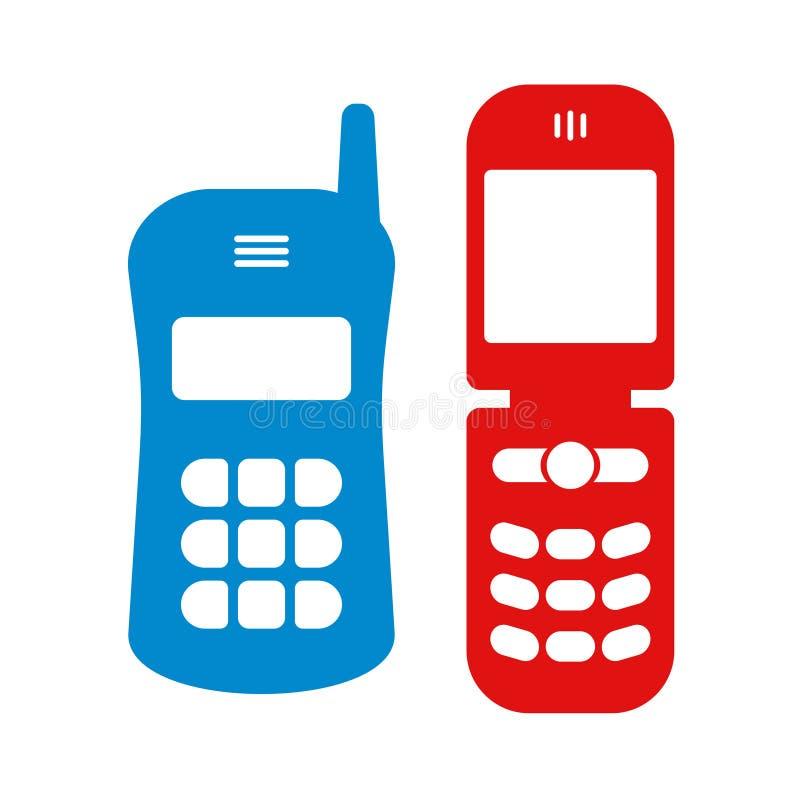 Ilustração retro do telefone ilustração do vetor