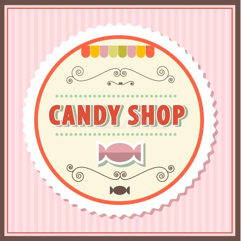 Ilustração retro do vetor da loja dos doces ilustração stock