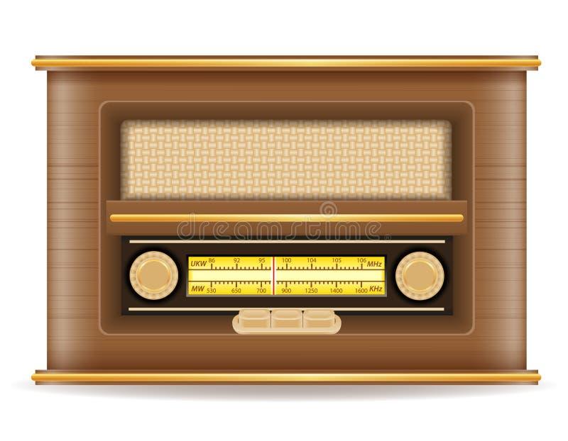 Ilustração retro velha de rádio do vetor do estoque do ícone do vintage ilustração royalty free