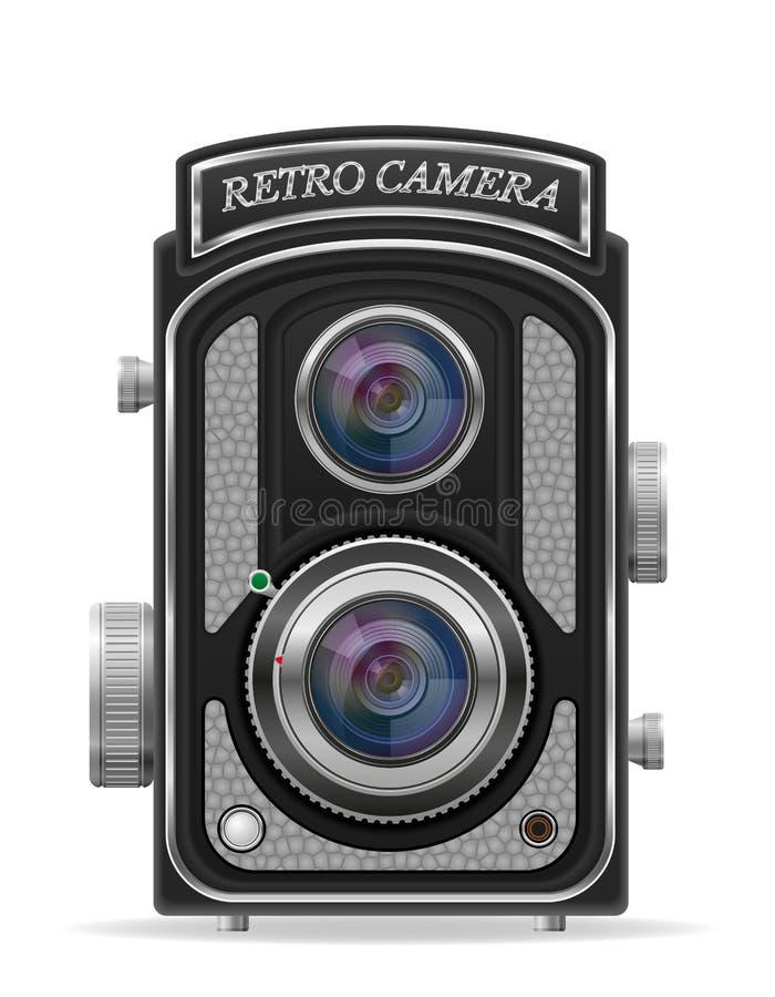 Ilustração retro velha do estoque do ícone do vintage da foto da câmera ilustração royalty free