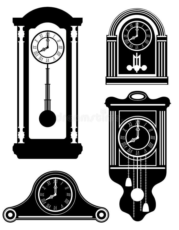 A ilustração retro velha do vetor do estoque do ícone do vintage do pulso de disparo enegrece para fora ilustração royalty free