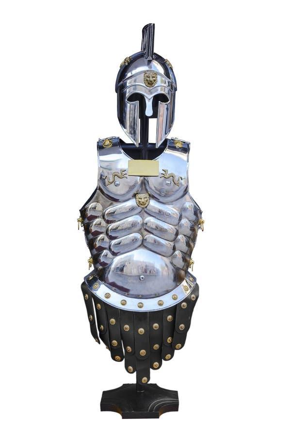 Ilustração romana do fim 3d da armadura isolada no fundo branco fotografia de stock