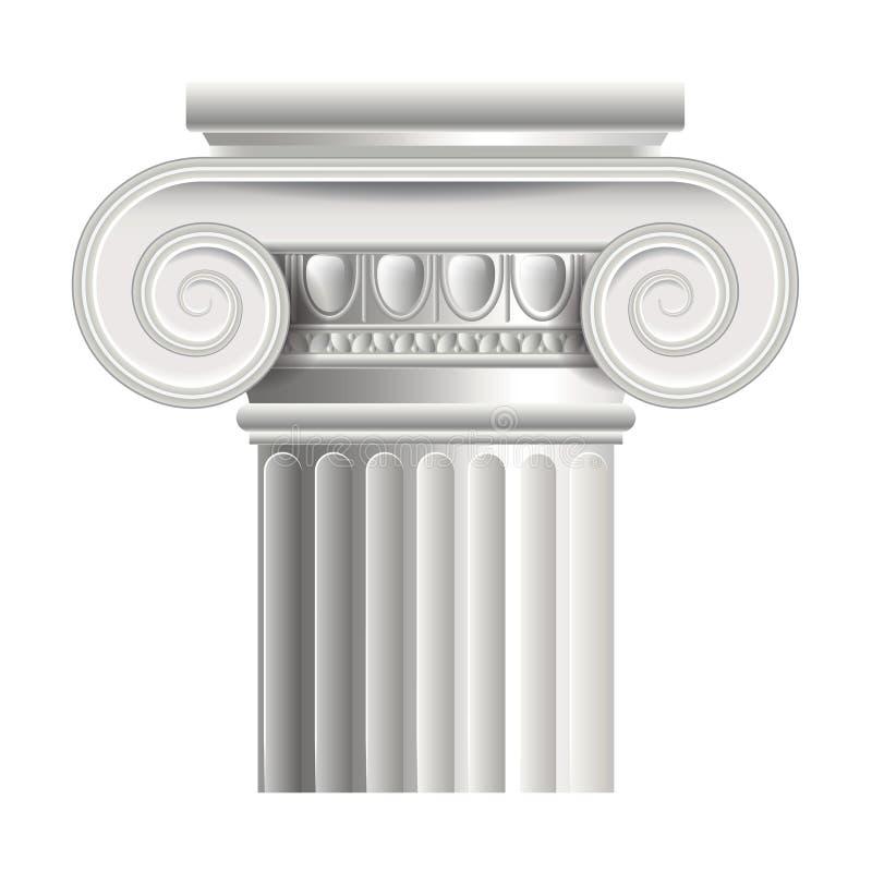 Ilustração romana ou grega do vetor da coluna ilustração do vetor