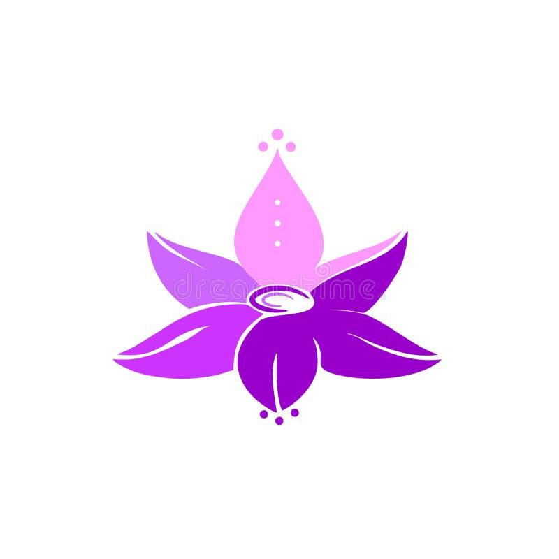 ilustração roxa da flor de lótus ilustração royalty free