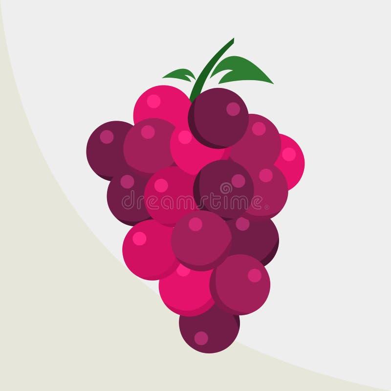 Ilustração roxa do ícone do vetor da uva ilustração royalty free