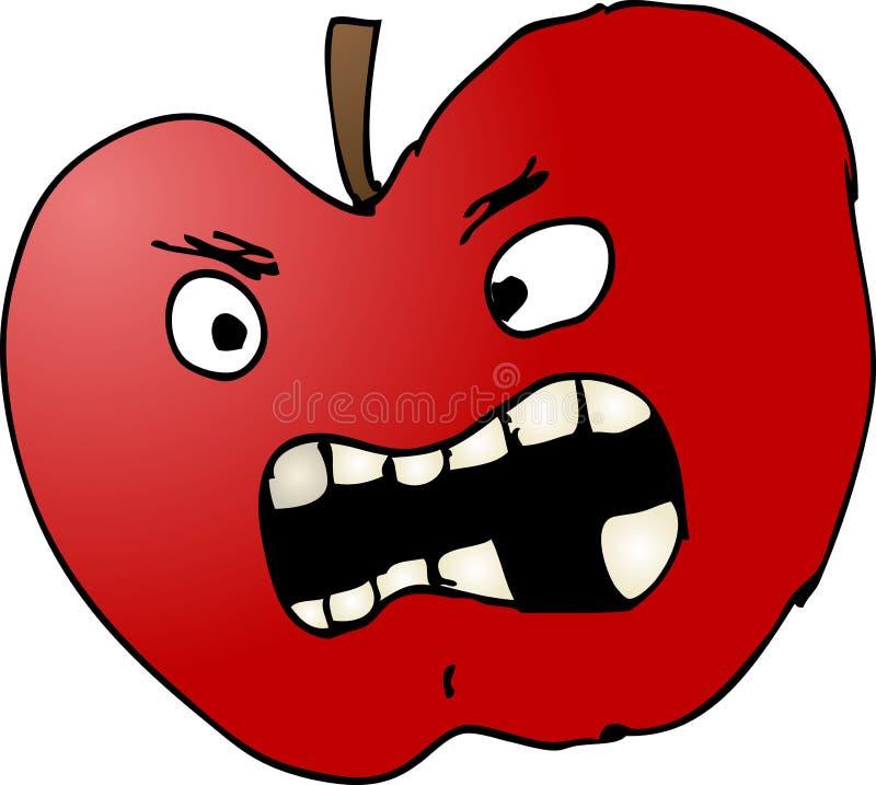 Ilustração ruim da maçã ilustração do vetor